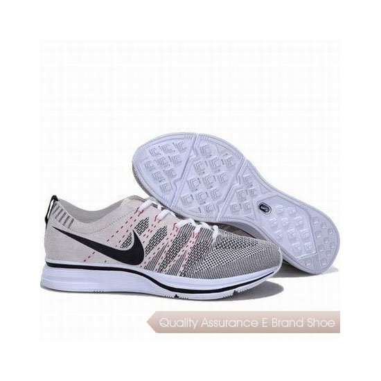 Nike Flyknit Trainer Suede Leather Beige Grey Mens Sneakers