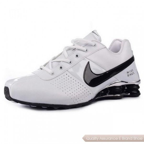 Nike Shox Deliver White/Light Black Men Shoes 1001