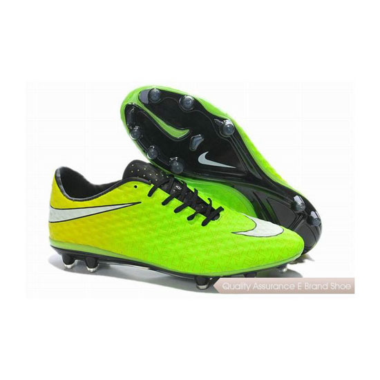 Nike HyperVenom Phantom FG Neymar Cleats 2014 Fluorescent Green White