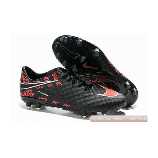 Nike Hypervenom Phantom FG Reflective Cleats 2014 Black Red