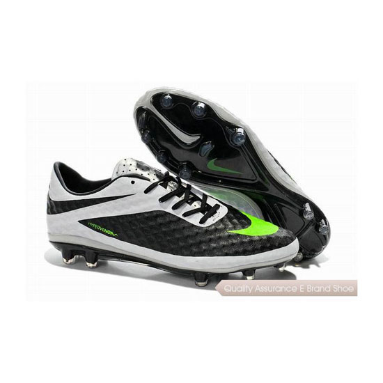 Nike Hypervenom Phantom FG Soccer Cleats 2014 Black Lime White Silver