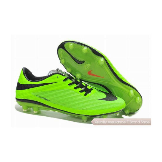 Nike Hypervenom Phantom FG Soccer Cleats Fluorescent Green Black