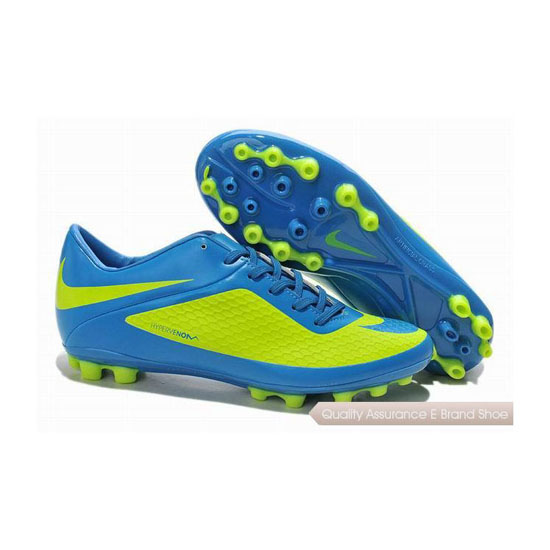Nike Hypervenom Phelon AG Cleats Fluorescent Green Blue