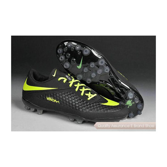 Nike Hypervenom Phelon AG Jnr Cleats 2014 Black Fluorescent Green