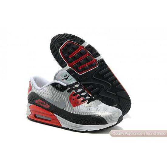 Nike Air Max 90 Lunar Mens Light Grey Red Shoes