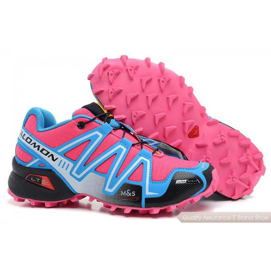 Salomon Mountain Trail-Running SPIKECROSS 3 CS Womens in pink blue