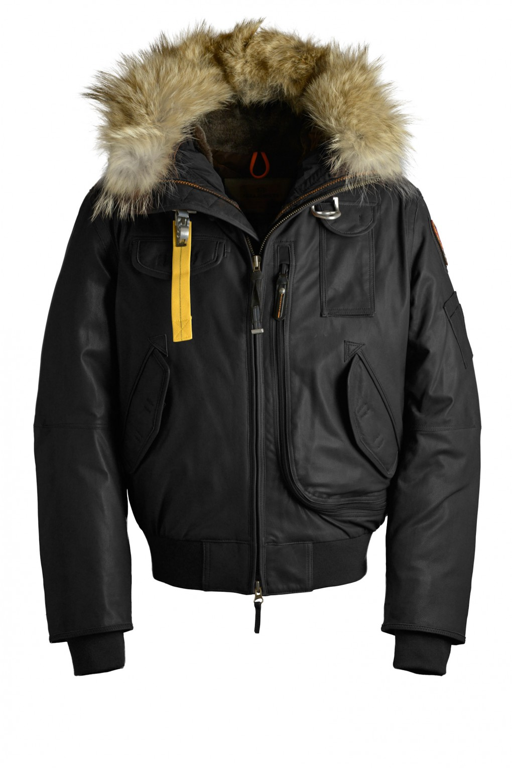 parajumpers GOBI LEATHER man outerwear Black