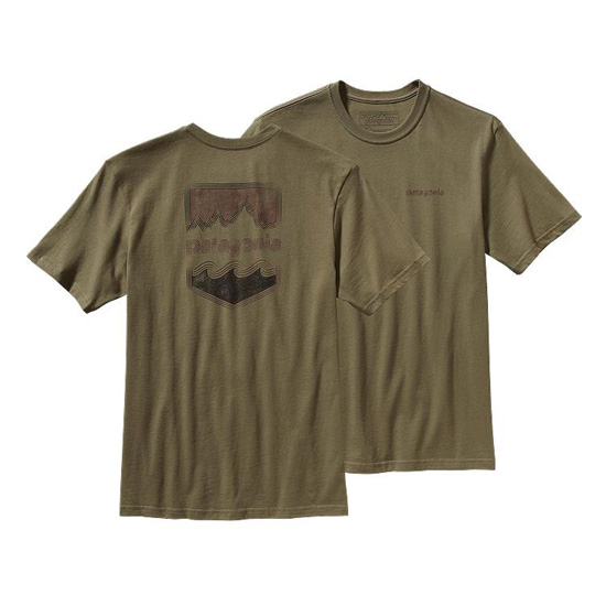 PATAGONIA MEN'S BRUSHED BADGE COTTON T-SHIRT
