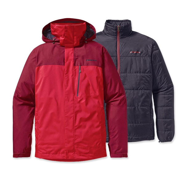 Patagonia Men's 3-in-1 Snowshot Jacket Wax Red