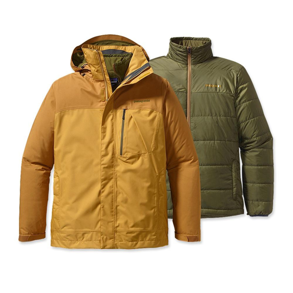 Patagonia Men's 3-in-1 Snowshot Jacket Prairie Gold