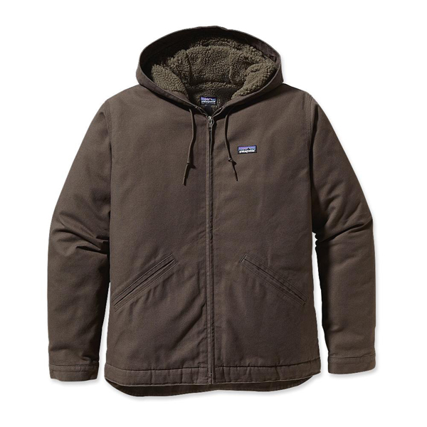 Patagonia Men's Lined Canvas Hoody Dark Walnut