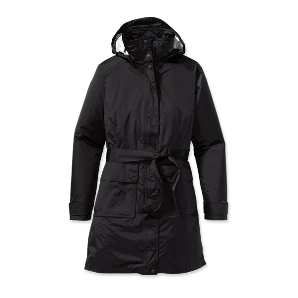 Patagonia Women's Torrentshell Trench Coat Black