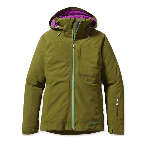 Patagonia Women's Insulated Powder Bowl Jacket Willow Herb Green