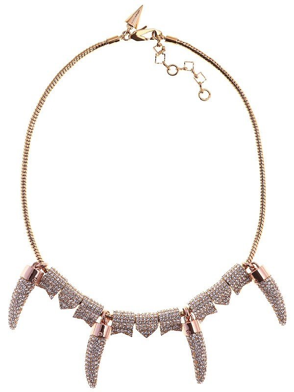 Rebecca Minkoff Pave Horn Necklace