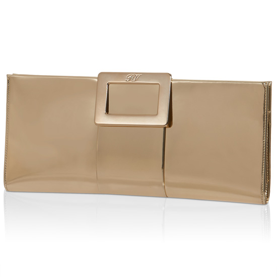 ROGER VIVIER BELLE VIVIER CLUTCH IN LEATHER