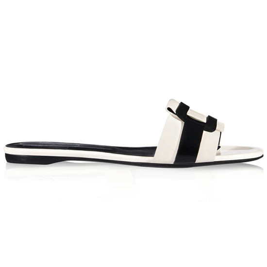 ROGER VIVIER LEATHER SLIDES