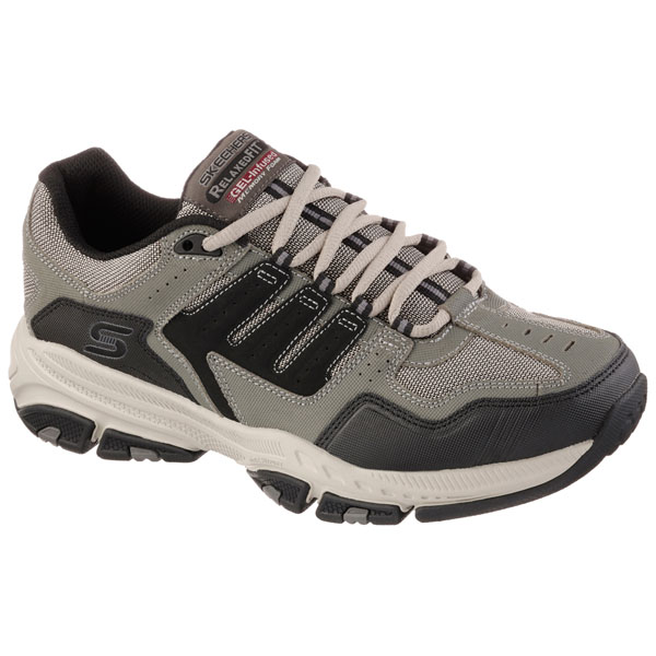SKECHERS MEN RELAXED FIT: CROSS COURT TR Olive/Black