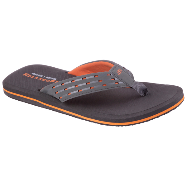 SKECHERS MEN RELAXED FIT: UNIFY - KING COBRA Charcoal/Orange