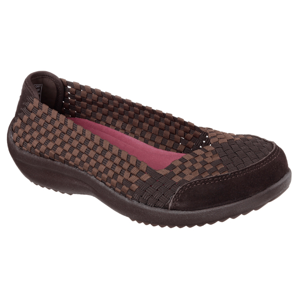 SKECHERS WOMEN RELAXED FIT: SAVOR - JUST WEAVE IT Chocolate
