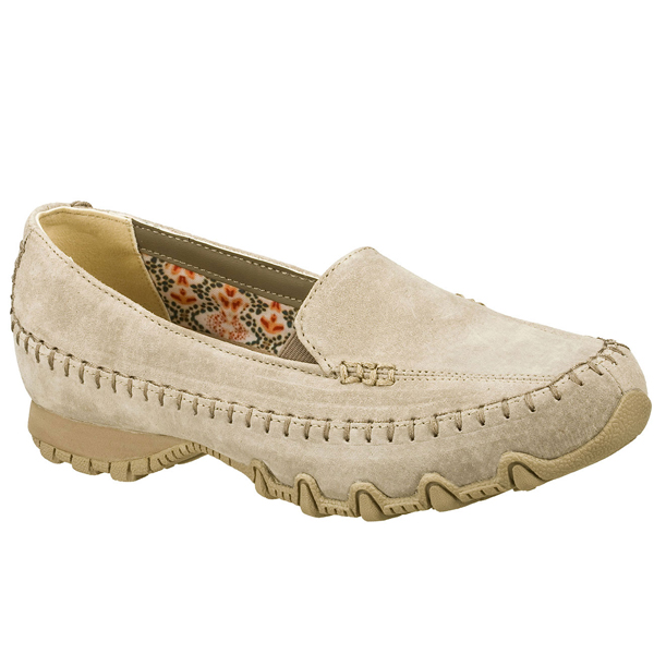 SKECHERS WOMEN RELAXED FIT: BIKERS - PEDESTRIAN Taupe