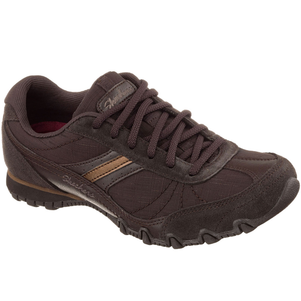 SKECHERS WOMEN RELAXED FIT: BIKERS - ABROAD Chocolate