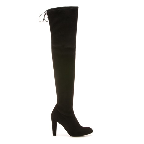 STUART WEITZMAN THE HIGHLAND BOOT Black Suede