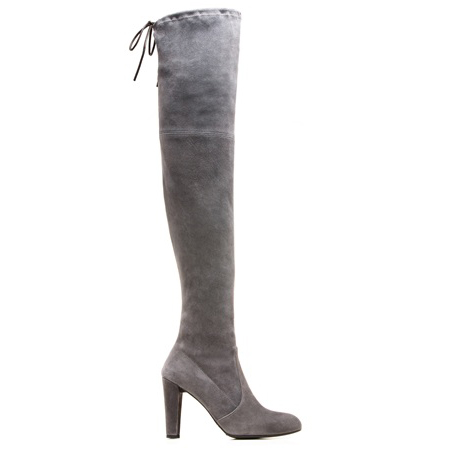 STUART WEITZMAN THE HIGHLAND BOOT Charcoal Suede