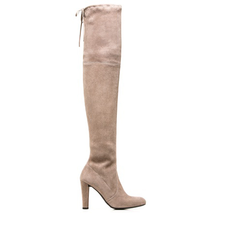 STUART WEITZMAN THE HIGHLAND BOOT Topo Suede