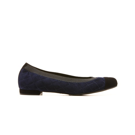 STUART WEITZMAN THE QUILTABLE FLAT Nice Blue Suede