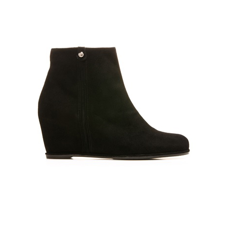 STUART WEITZMAN THE SIDING WEDGE Black Suede