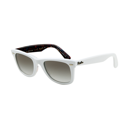 Ray Ban RB2140 Wayfarer Sunglasses Top Texture on White Frame Cr