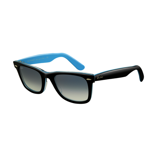 Ray Ban RB2140 Wayfarer Sunglasses Top Black on Transparent Azur