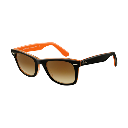 Ray Ban RB2140 Wayfarer Sunglasses Top Black on Transparent Oran
