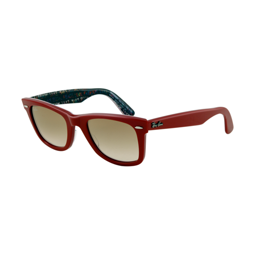 Ray Ban RB2140 Wayfarer Sunglasses Top Red on Texture Tipedilc F
