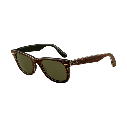 Ray Ban RB2140 Wayfarer Sunglasses Top Texture on Black Frame Cr
