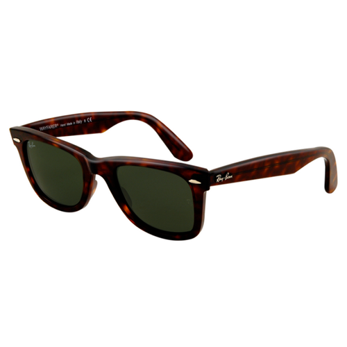 Ray Ban RB2140 Wayfarer Sunglasses Tortoise Frame Crystal Green