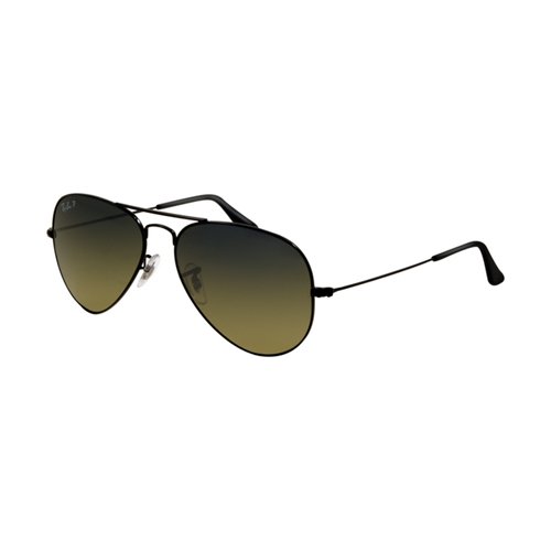 Ray Ban RB3025 Aviator Sunglasses Shiny Black Frame Crystal Grad