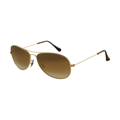 Ray Ban RB3362 Sunglasses Gold Frame Crystal Brown Gradient Lens