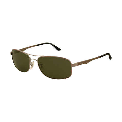 Ray Ban RB3484 Sunglasses Arista Frame Crystal Light Green Lens