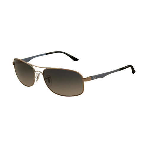 Ray Ban RB3484 Sunglasses Arista Frame Crystal Grey Mirror Lens