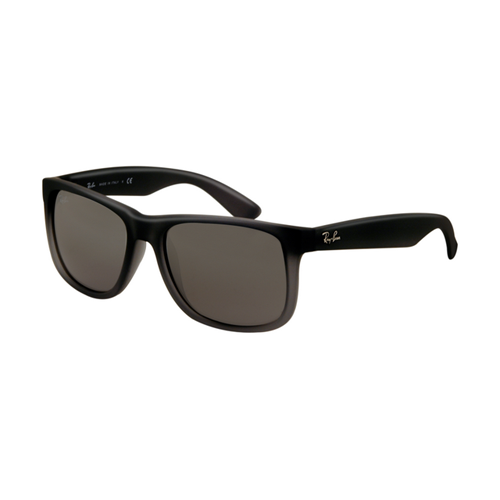 Ray Ban RB4165 Justin Sunglasses Rubber Grey with Grey Transpare