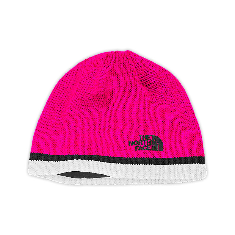 NORTH FACE YOUTH KEEN BEANIE RAZZLE PINK