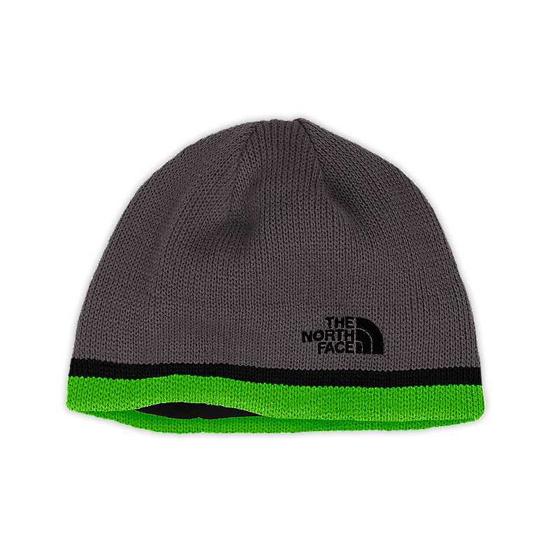 NORTH FACE YOUTH KEEN BEANIE GRAPHITE GREY / GLO GREEN