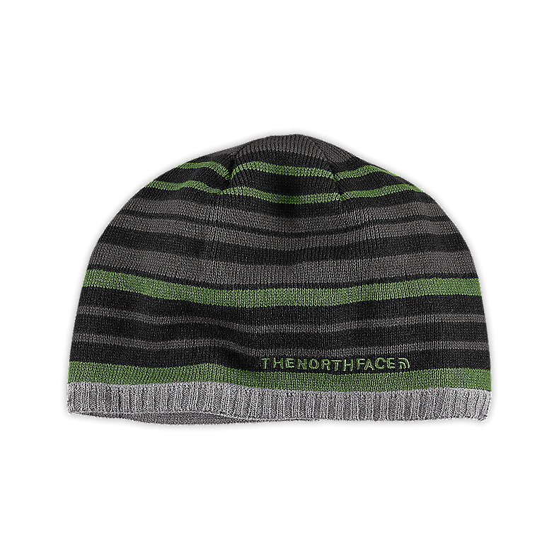 NORTH FACE YOUTH ROCKET BEANIE TNF BLACK / CONIFER GREEN