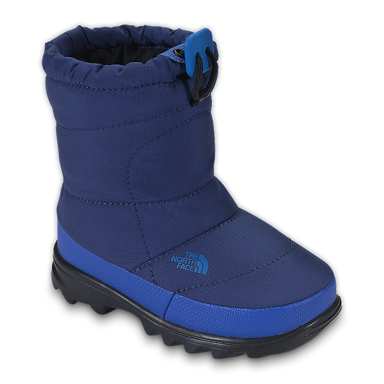 NORTH FACE BOYS TODDLER NUPTSE BOOTIE II BOLT BLUE / JAKE BLUE