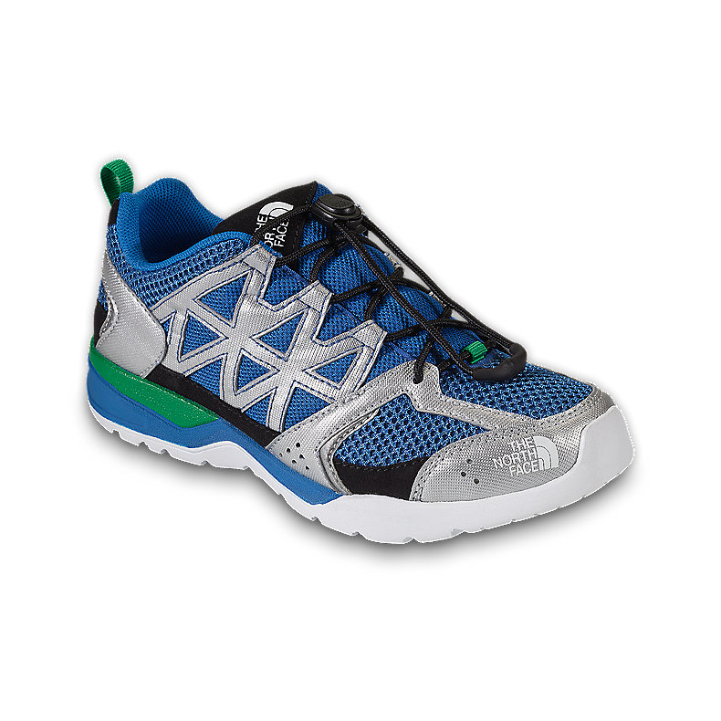 NORTH FACE BOYS SINGLE-TRACK II ATHENS BLUE / TRIUMPH GREEN