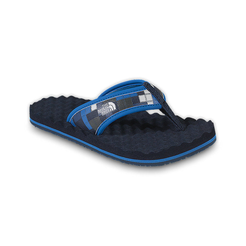 NORTH FACE BOYS BASE CAMP FLIP-FLOP DEEP WATER BLUE / ATHENS BLUE