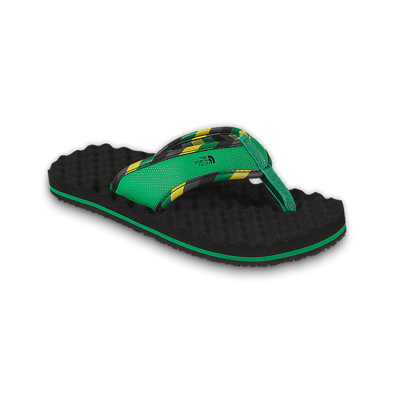 NORTH FACE BOYS BASE CAMP FLIP-FLOP TNF BLACK / TRIUMPH GREEN
