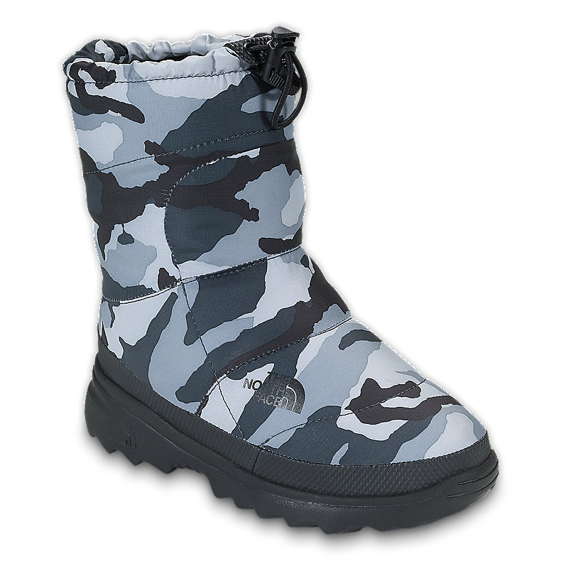 NORTH FACE BOYS NUPTSE BOOTIE II CAMO GREY / TNF BLACK