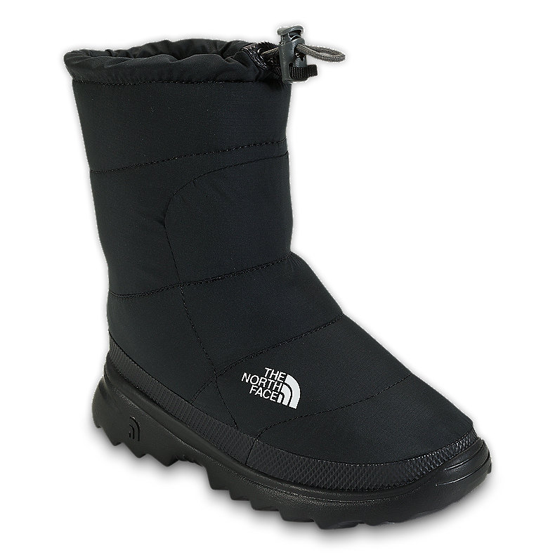 NORTH FACE BOYS NUPTSE BOOTIE II BLACK / BLACK